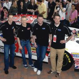 Jamey Fish, Dale Earnhardt Jr., Brad Keselowsi, Mark Martin @ Unilever launch